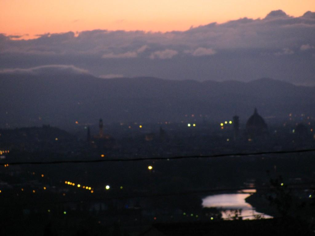 sunset dawn mountains river
